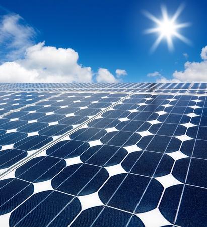 solar array: solar cell array against the sun