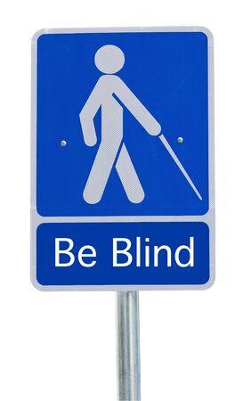 pas op mensen crossing sign blind