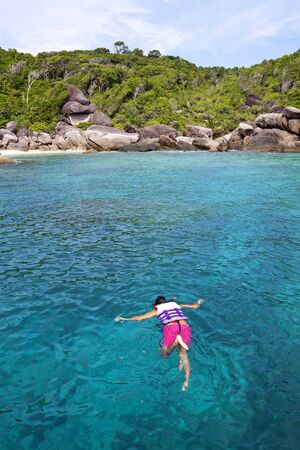 sea and rocky coast at similan island thailand Stock Photo - 16921293