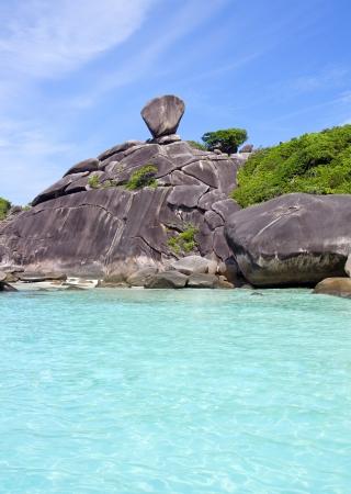 similan islands: Beautiful crystal clear sea at tropical island, Similan island, Andaman sea, Thailand