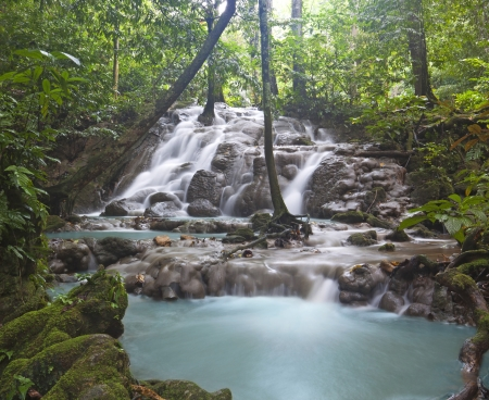 phangnga: Deep forest Waterfall in Phangnga Thailand  Stock Photo