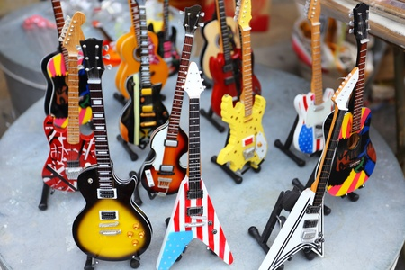 hardrock: collection of electric guitars Stock Photo