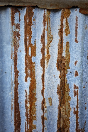 Old zinc sheet  with beautiful rust photo