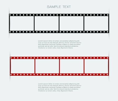 negative film: Film strip backgrounds and space for message Stock Photo