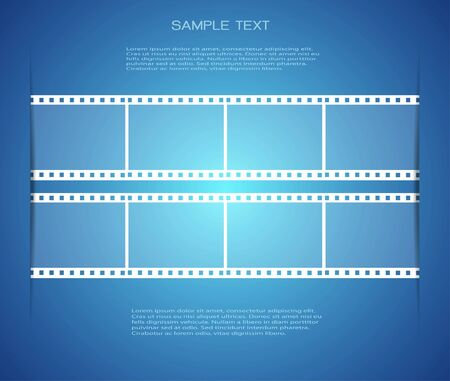 Film strip backgrounds and space for message photo