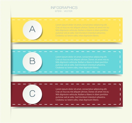 vintage style infographic options banner Vector
