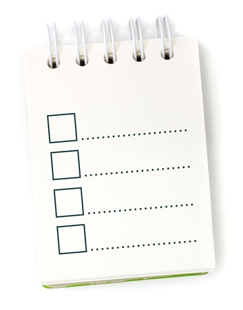 to do list on white paper notebook photo