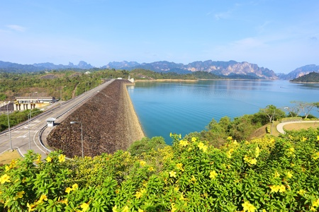 Ratchaprapa dam in Surat Thani, Thailand  photo