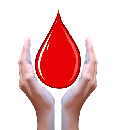 blood drops: blood drop in hand