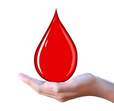 blood drop in hand