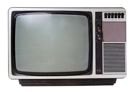 Vintage TV set isolated  Clipping path included   photo