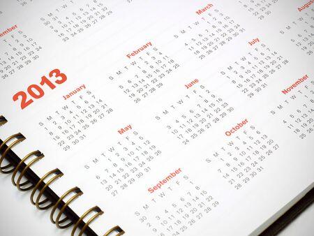 A 2013 calendar Stock Photo - 20978121