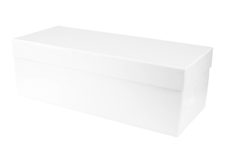 White box isolated with clipping path  Stock Photo - 20977189