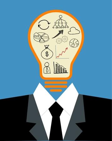 lightbulb idea: lampadina concetto di idea Vettoriali