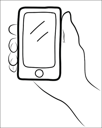 hand holding a smart phone Stock Vector - 21570572