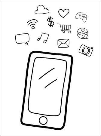 smart phone  Stock Vector - 21570586