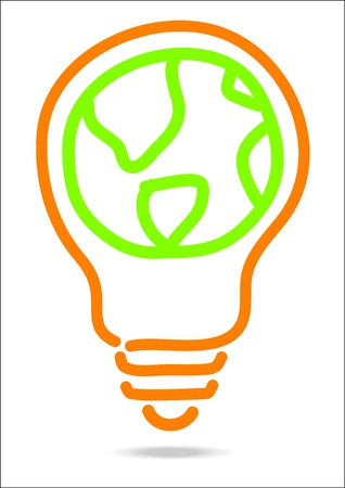 hand draw Light bulb   Vector