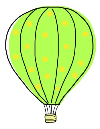 hands in the air: hand draw vintage balloon
