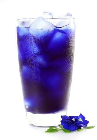 Butterfly pea juice for drink on white background photo