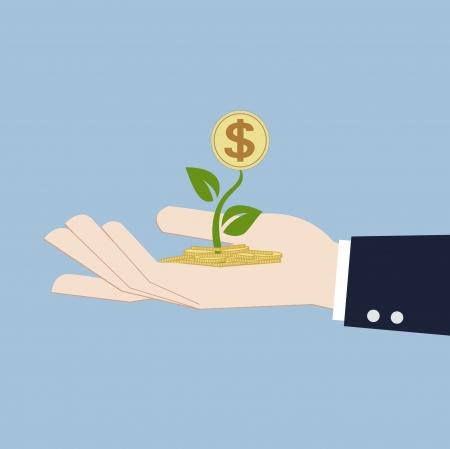 equidad: el crecimiento del dinero en concepto de inversión mano