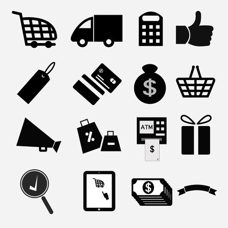 Shopping icons Stock Vector - 22276135