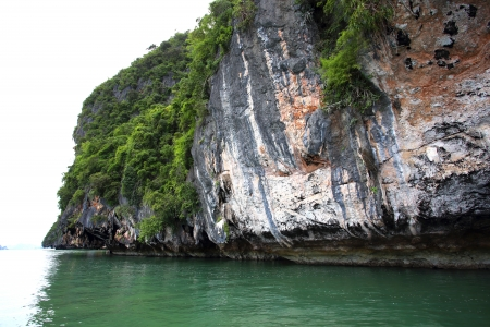 Landscapes and lime stone at Phang Nga National Park in Thailand  photo