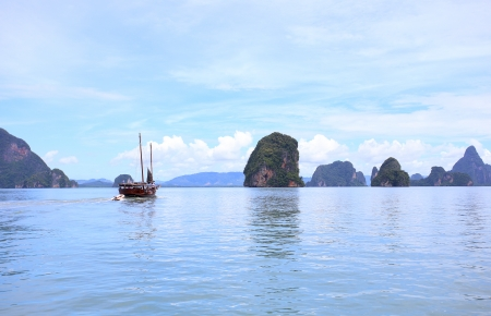 Beautiful scenery of Phang Nga National Park in Thailand  photo