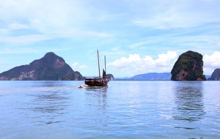 james bond: Beautiful scenery of Phang Nga National Park in Thailand  Stock Photo