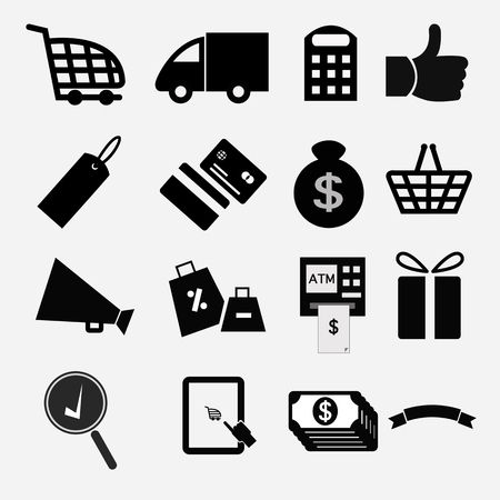 Shopping icons Stock Vector - 22783753