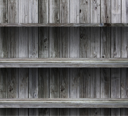 empty wood shelf grunge interior background for display object  photo