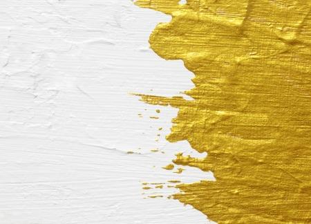 흰색과 금색의 아크릴 질감 그림 배경