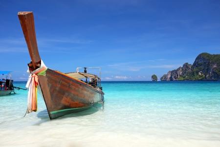Thai longtail boat on Phi Phi island Thailand photo