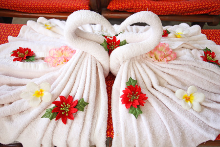 towels decorations for an Asian spa  photo