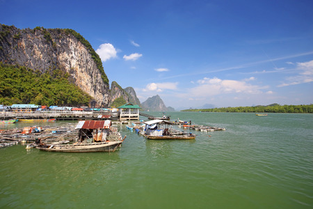 Ao Phang nga National Park. Koh Panyee. A Muslim sea gypsy fishing village, southern of Thailand Editorial