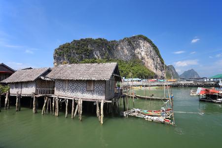 koh: Ao Phang nga National Park. Koh Panyee. A Muslim sea gypsy fishing village, southern of Thailand Editorial