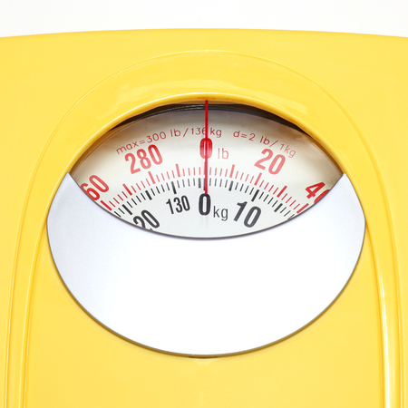kg: Bathroom Weight Scale on white