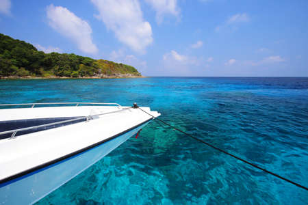 similan islands: tropical crystal clear sea, Tachai island, Andaman, Thailand  Stock Photo