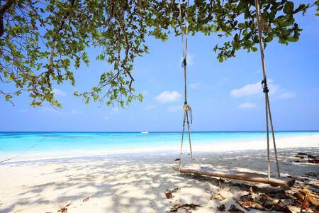 similan islands: tropical beach at Tachai Island in Phang-Nga, Thailand