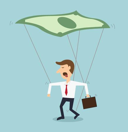 rich man: man control by money motivation business concept