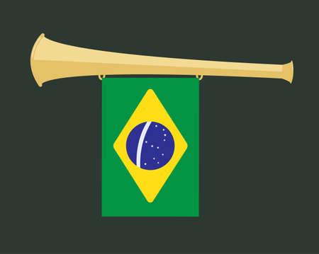noise maker: noise maker Vuvuzela with brazil flag