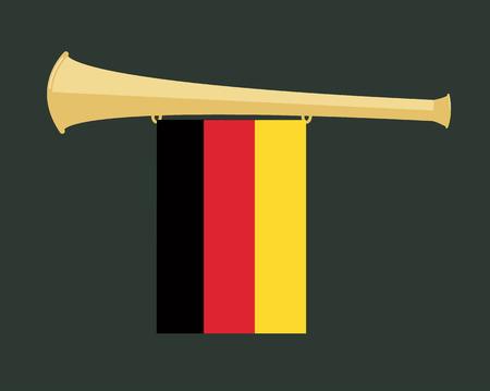 noise maker: noise maker Vuvuzela with germany flag Illustration