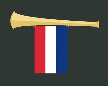 holanda bandera: fabricante de ruido Vuvuzela con la bandera de Holanda