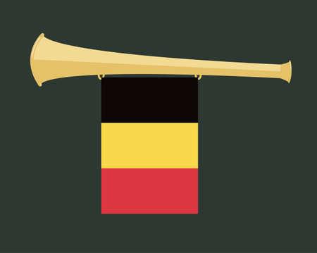 noise maker: noise maker Vuvuzela with belgium flag