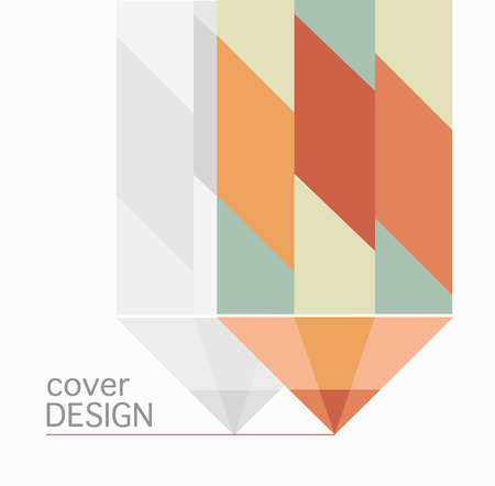 book cover annual report colorful pencil design  Vector