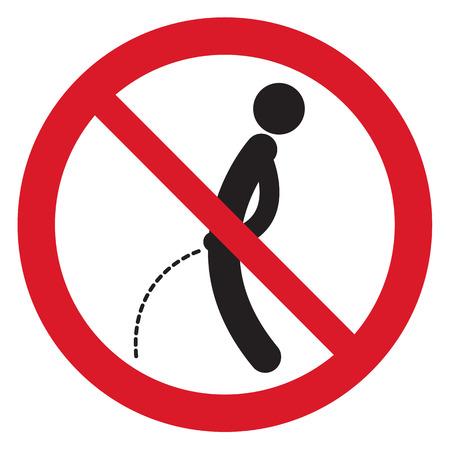 No peeing symbol  Illustration