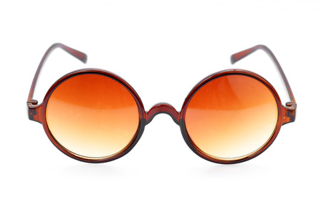 toned: Sunglasses on white background