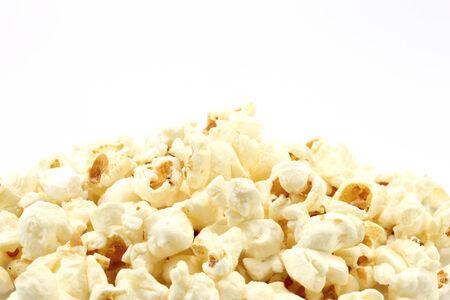 Popcorn on the white background  photo