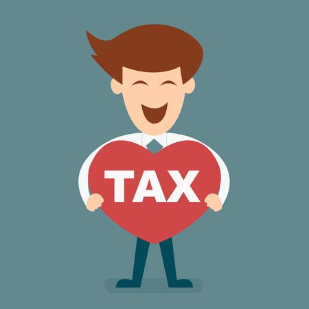 taxpayer:  smart business man love tax vector