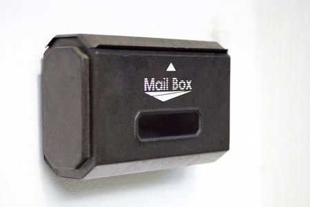 mail box on white background photo