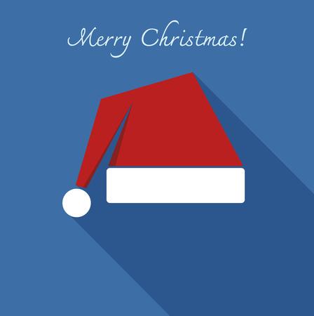 santa clause hat: santa clause hat flat design vector